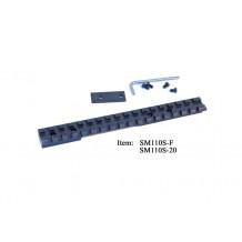 Savage Model SA with spacer , picatinny rail